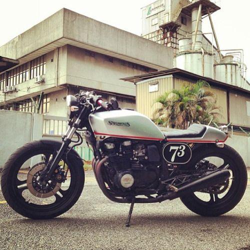 @stonemortars #kawasaki #gpz550 #caferacerculture #custombuilds
