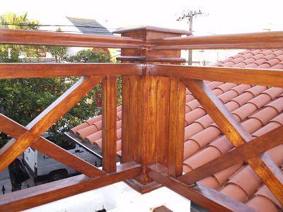 Barandas madera para balcones buscar con google for Barandas de terrazas modernas