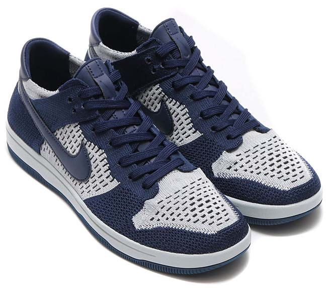 6daf621d9327b NIKE DUNK FLYKNIT  COLLEGE NAVY   WOLF GREY-PURE PLATINUM-BLACK  917746-400