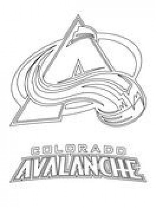 Colorado Avalanche Logo Coloring Page Kidswoodcrafts Colorado