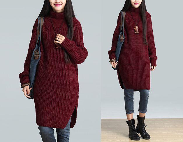 Cappotti di lana - Le donne del Knit di inverno Vestito in lana - un prodotto unico di minyaZhou su DaWanda