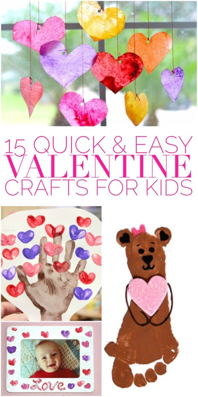 Looking for quick and easy valentine crafts for kids? Most of these crafts can be done in just a few minutes, and they're so cute!