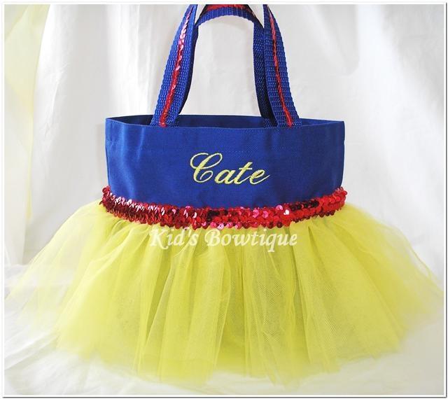Snow White Themed Red Sequins Trim    Tutu Bag