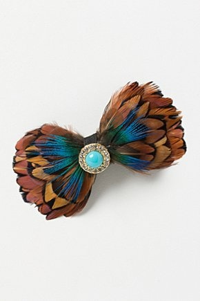 Jewelled Feather Clip | Anthropologie.eu