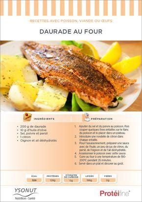 #Daurade au four. Très peu calorique, la daurade constitue une excellente source de #protéines.
