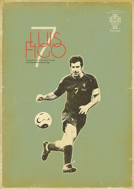 Figo: Zoran Lucić shows all its love for the round ball. Around graphic designs on the biggest players of the history of football, the Bosnian artist manages to emphasize these sportsmen of passed and the present.