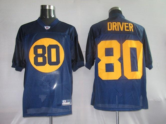 cdd5c3eba39 25.00 Reebok NFL Jersey Green Bay Packers Donald Driver 80 Blue ...