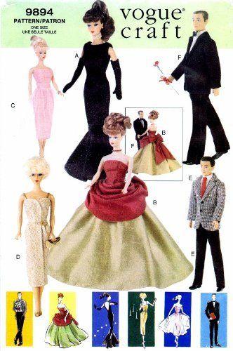 163 besten Sewing for Vintage Barbie Bilder auf Pinterest ...
