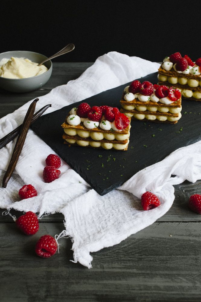 Raspberry millefeuille - Mille-feuille aux framboises