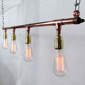 Copper Pendant Track Lighting
