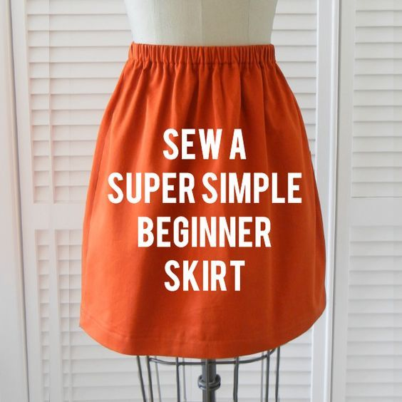 Super Simple Skirt tutorial | Easy sewing project for beginners | How to make a skirt without a pattern | Sewing clothing