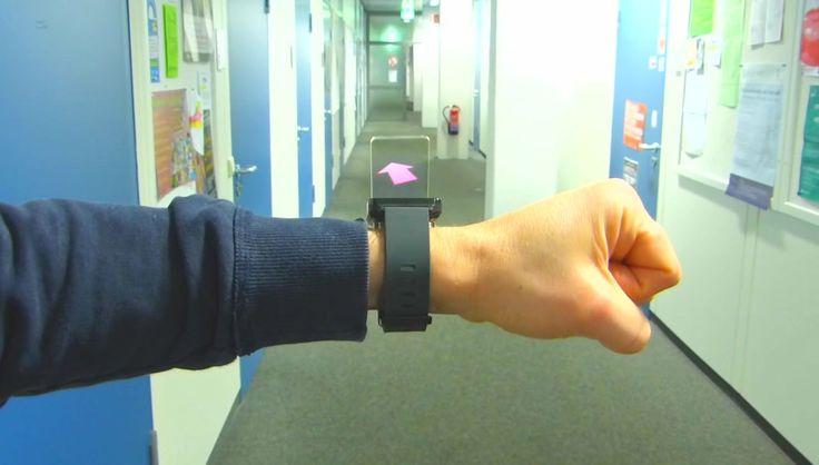 ヘッドセットなしでAR(拡張現実)を体験できるスマートウォッチ「WatchThru」