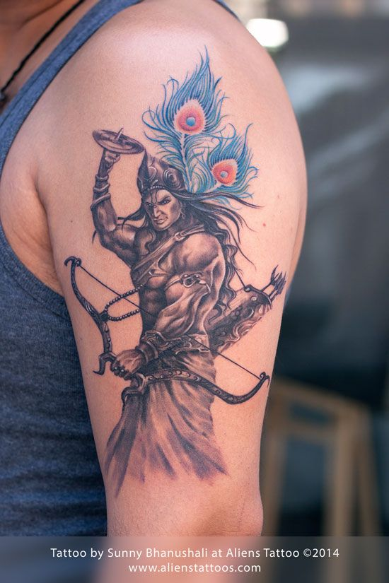 Warrior Lord Krishna Tattoo