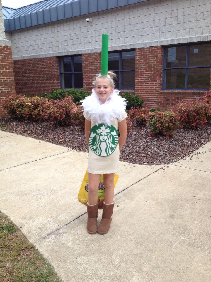 Homemade Starbucks costume for my tween!