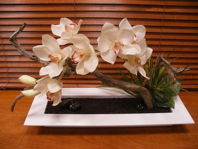Centro de mesa de orquídeas