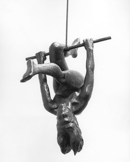 """Acrobat II"", 1973, Richard McDermott Miller, American (1922-2004), bronze, 21 1/2 in. Gift of Cordelia Penn Cannon, 1974. 1974.21801974 2180, Penne Cannon, Cordelia Penne, American 1922 2004, Wam Collection, American Artists, Richard Mcdermott, Mcdermott Miller, Acrobatic"