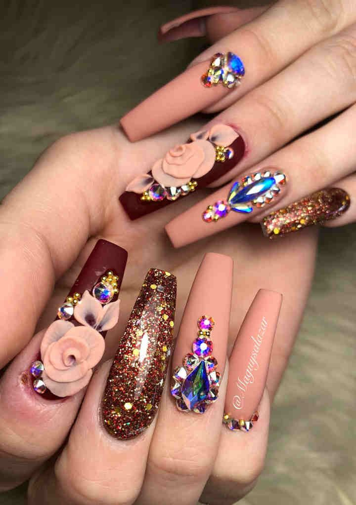 80 Best Winter Nails Red Colors For Long Nails Art Designs Long