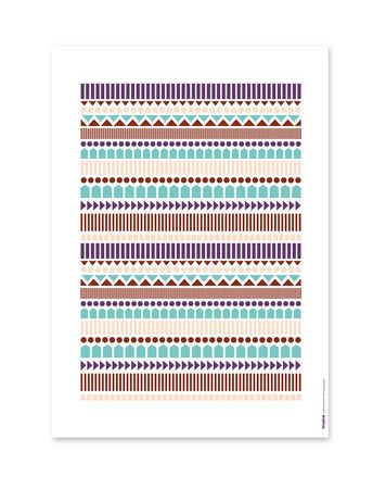 Knitting poster, colorful