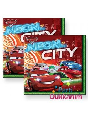 Cars Neon Peçete (20 adet)