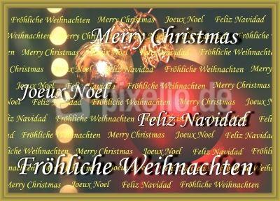 Weihnachtswünsche 11 (in 4 Sprachen)
