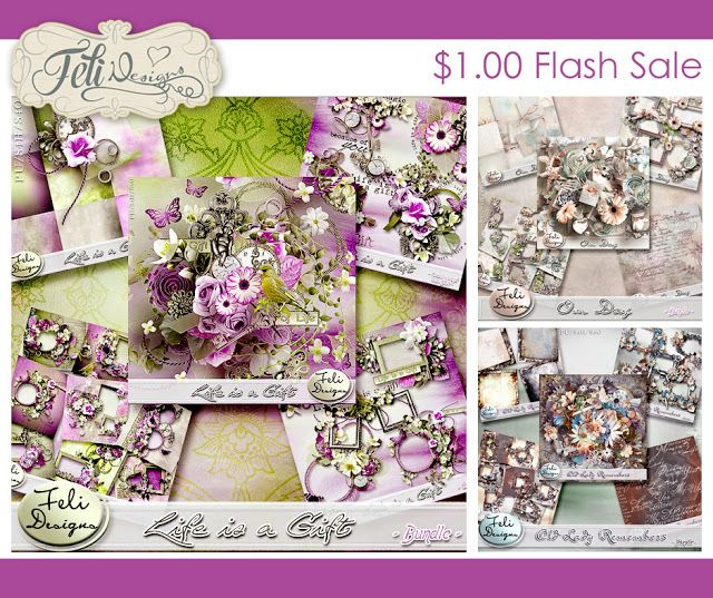 Final day of the Flash Sales at the Studio. I have some gorgeous bundles for you. You can find them here:  https://www.digitalscrapbookingstudio.com/promotions-en/nsd-flash-sales-monday  And don't forget about the 50% off store sale here:  https://www.digitalscrapbookingstudio.com/feli-designs/