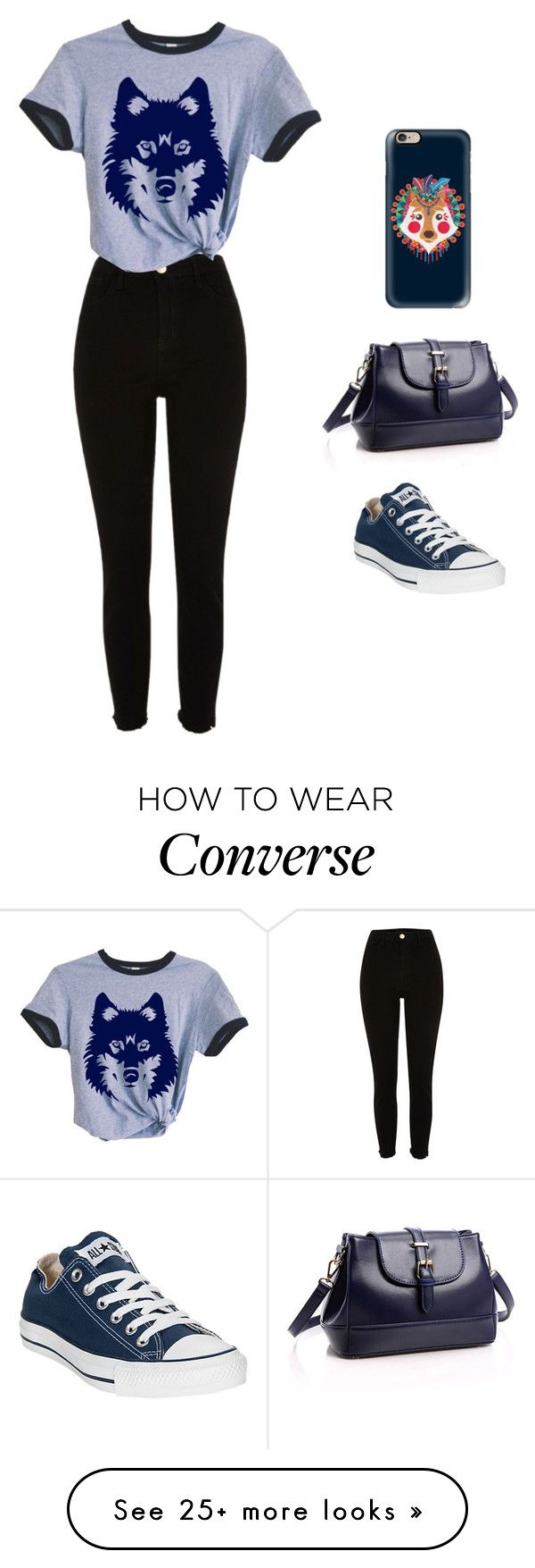 """Untitled #89"" by lghedger on Polyvore featuring River Island, Converse and Casetify"