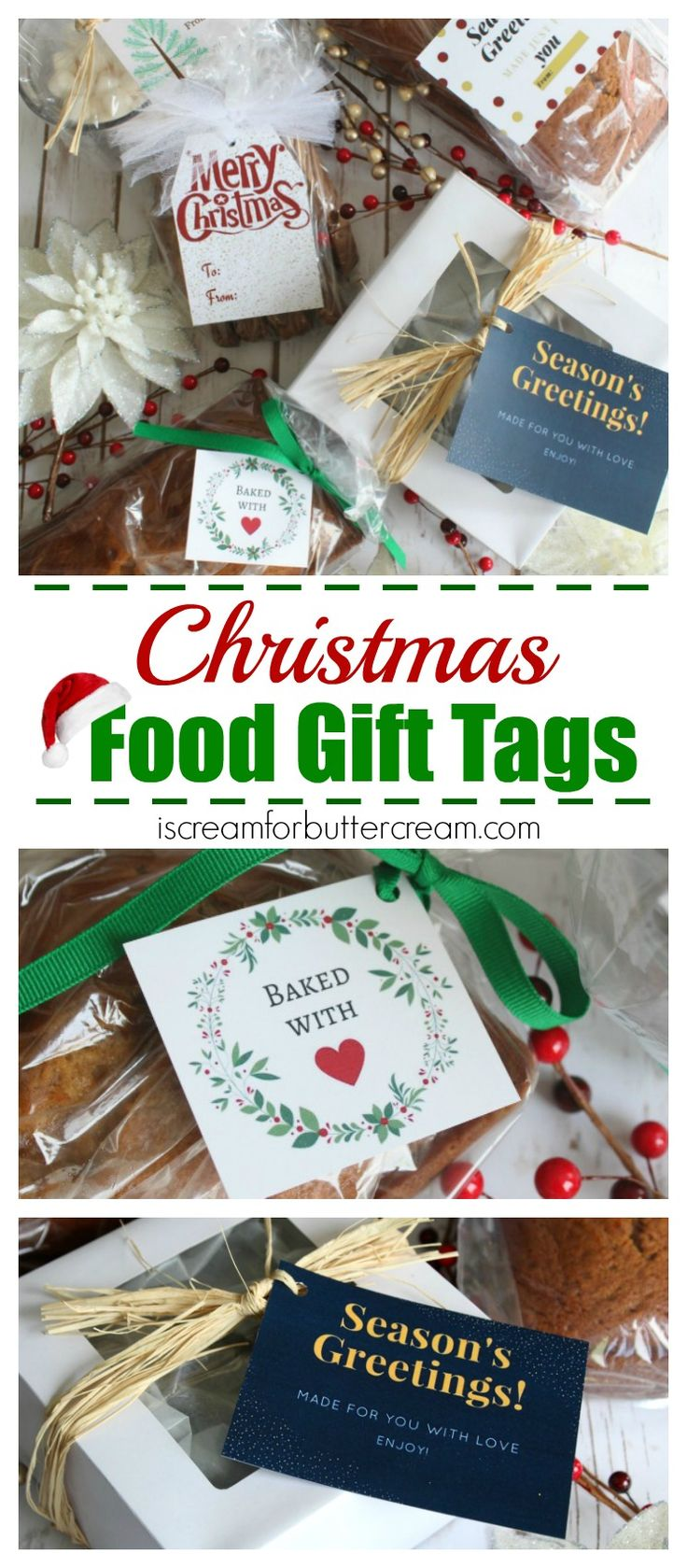 Free Printable Christmas Food Gift Tags. Give your edible gifts a sweet touch. Who doesn't love getting something yummy for Christmas!
