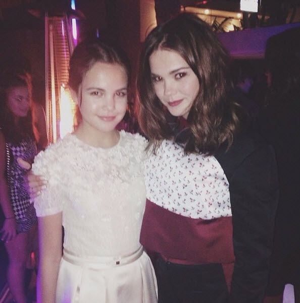 Bailee Madison and Maia Mitchell Meet Each Other September 27, 2013