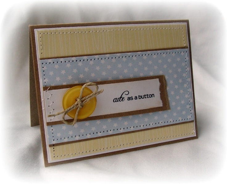 'Cute as a Button' Tiny {New Baby} Sentiment ... by Leann New