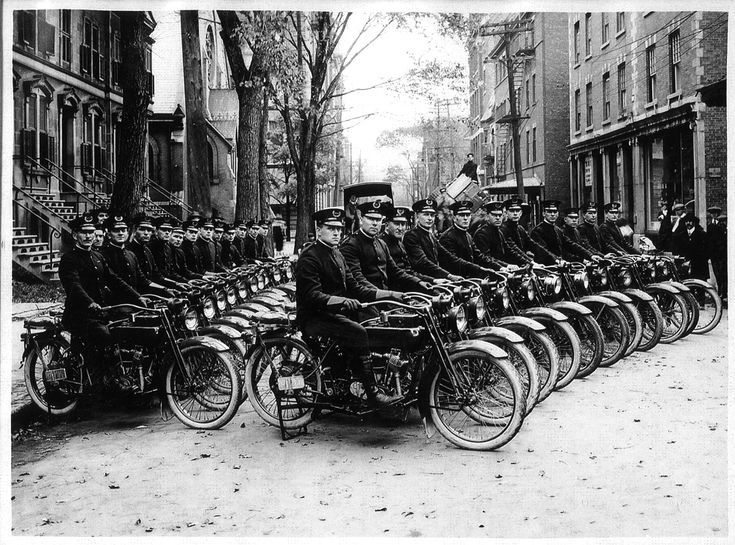 Montreal police motorcycle squad...1918.