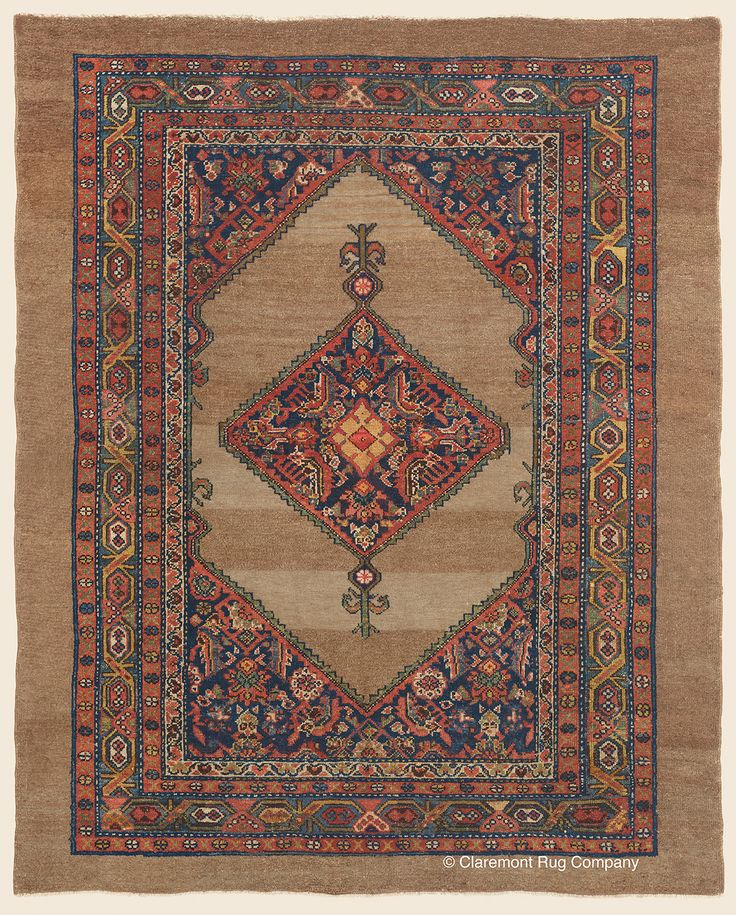 MALAYER CAMELHAIR, Northwest Persian Antique Circa 1875 Rug 5ft 2in X 6ft  5inu2014 Claremont