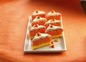 Halloween: Orange Candy Corn Bars