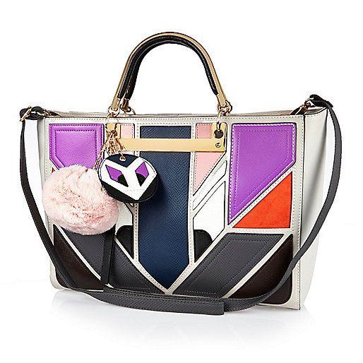 Grey monster face tote handbag - shopper / tote bags - bags / purses - women