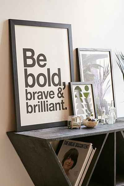 angelstar forever be bold brave brilliant art print brave professional office decorating ideas