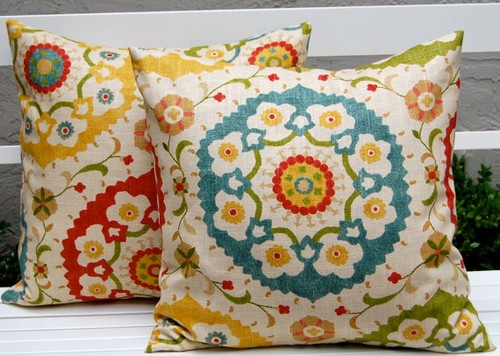 Richloom Cornwall Garden Throw Pillows by Festive Home Decor