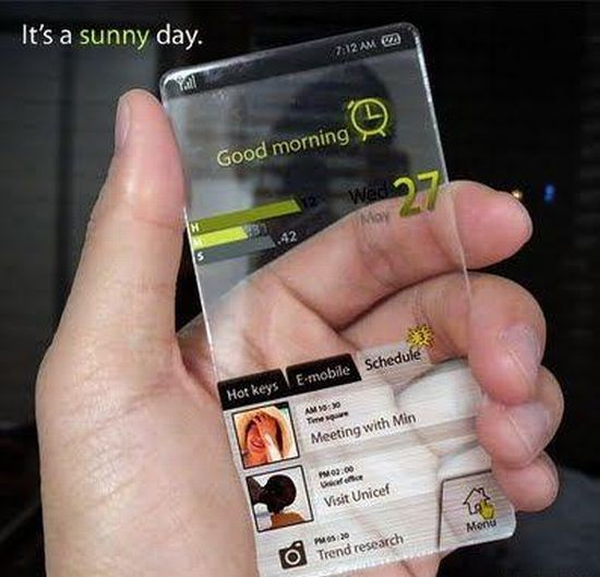 Clear devices that allow you to see by them