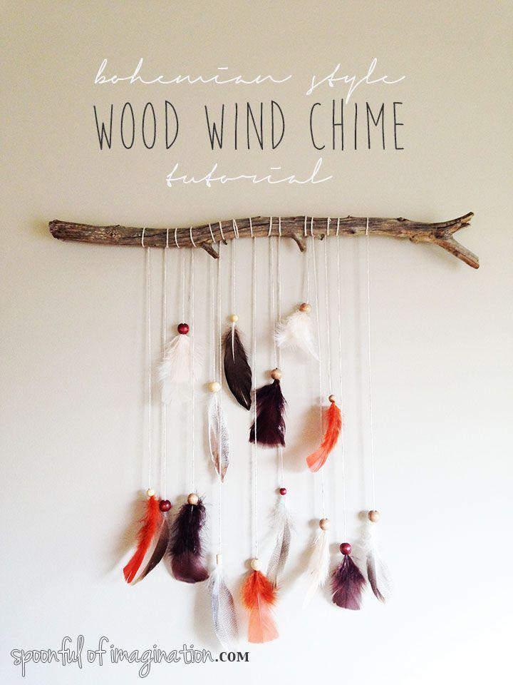 DIY Wood Wind Chime #bohemian #windchime