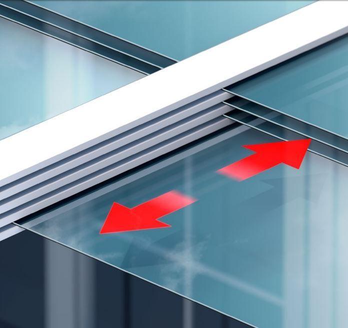 Vitello-Flex de unieke Elektrische of naar wens handbediend schuif glas terrasoverkapping van de firma Joka.