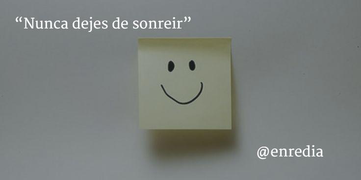 """""""Nunca dejes de sonreir"""" #Motivación"""