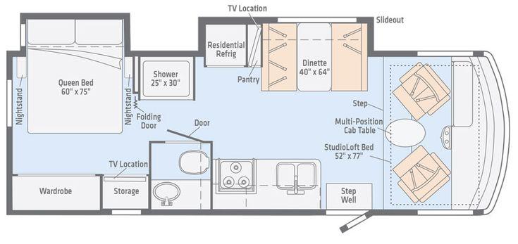 Image result for winnebago class c floor plans winnebago