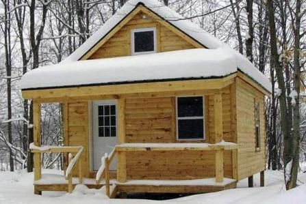 small hunting cabin plans | Deer Hunter's Lodge • New York Land For Sale • Land And Camps