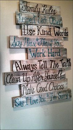 House rules sign, family rules sign, wood signs, wood signs sayings, wall signs, home rules, pallet signs, wood signs home