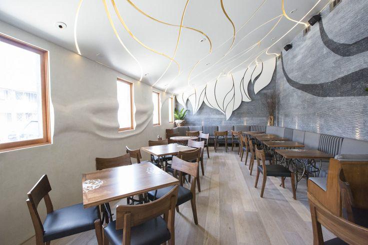 DuChateau Lugano hardwood flooring. Photos - Girasol Restaurant Los Angeles