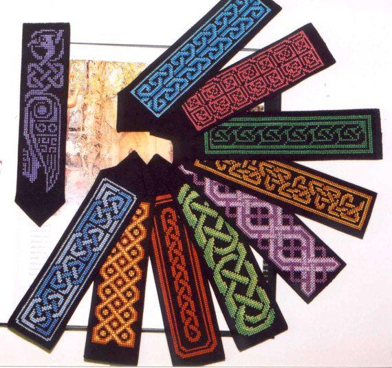 Cross stitch pattern of 10 Celtic Bookmarks