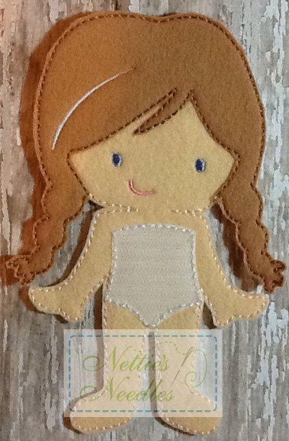 Frozen Anna Doll by NettiesNeedlesToo on Etsy, $7.00
