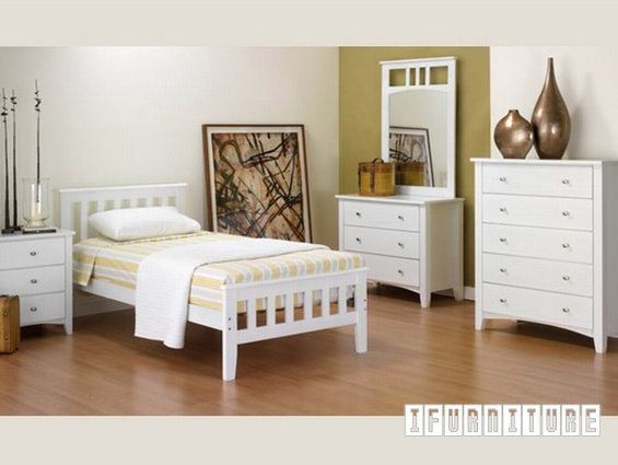 SNOW WHITE Solid Pine Bed Series , Bedroom, NZ's Largest Furniture Range with Guaranteed Lowest Prices: Bedroom Furniture, Sofa, Couch, Lounge suite, Dining Table and Chairs, Office, Commercial & Hospitality Furniturte