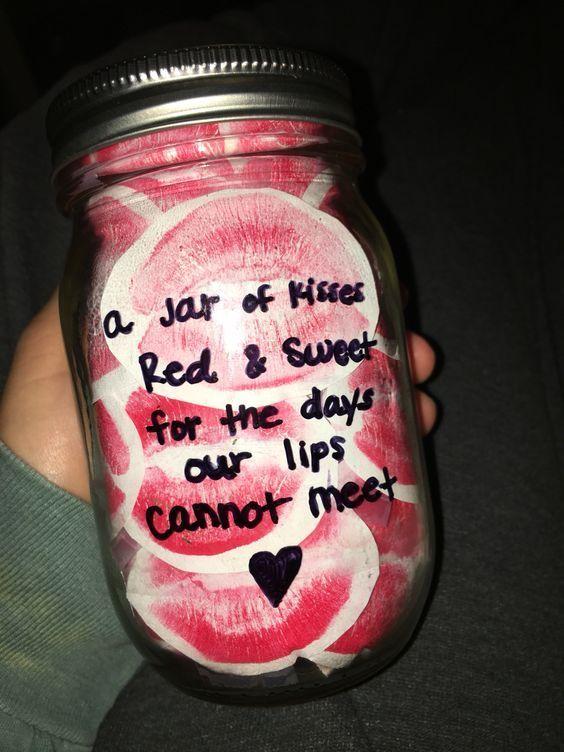 Jar Of Kisses Diy Valentines Mason Jar Crafts For Him Easy