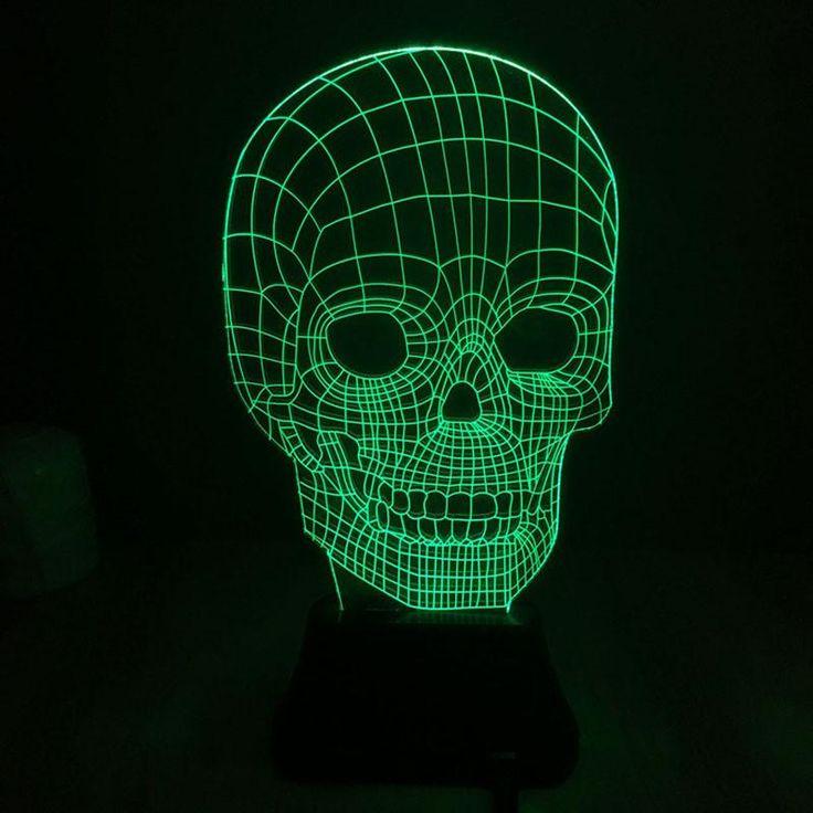 Changing Night Light Indoor Skull Led Mask