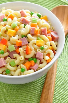 Pasta Salad, yummy picnic or lunch meal, easy to make, kids can help, save because great leftovers!