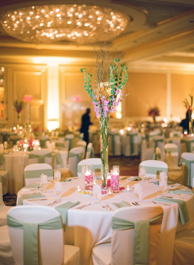 long table setup wedding reception%0A Whimsical centerpiece  elegant table setting for wedding reception
